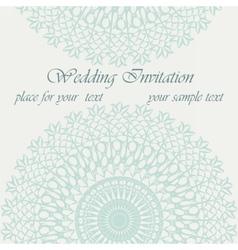 Invitation card with delicate ornament vector image