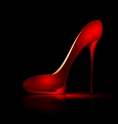 large scarlet shoe vector image