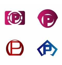 Letter p logo icon design template elements vector image