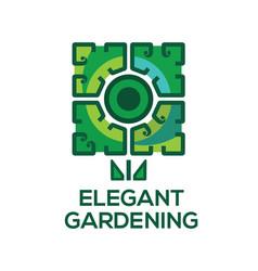 Logo templates elegant gardening vector