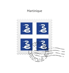 Martinique Flag Postage Stamp vector image