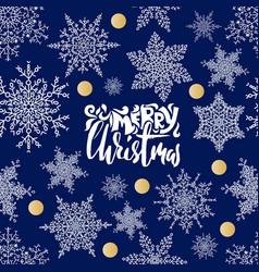 merry christmas handwritten lettering design on vector image