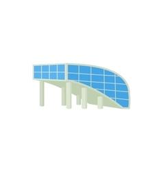 Modern building icon cartoon style vector image