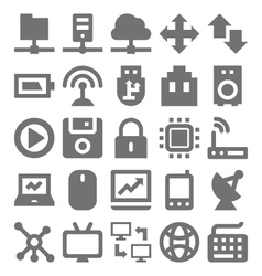 Network Technology Icons 1 vector image
