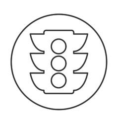 Semaphore traffic isolated icon vector