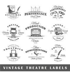 Set of vintage theatre labels vector