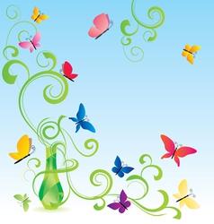 spring fragrance bottle vector image vector image