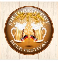 Vintage styled emblem for Oktoberfest festival vector image