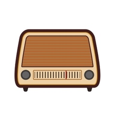 Radio retro vintage music icon graphic vector
