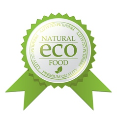 Eco badge vector