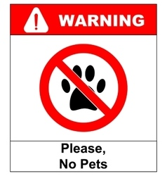 No pets icon pets forbidden vector