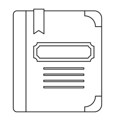 Tutorial with bookmark icon outline style vector