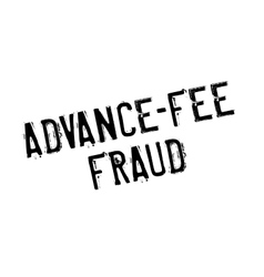 Advance-fee fraud rubber stamp vector