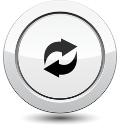 Button with Arrows Icon vector image