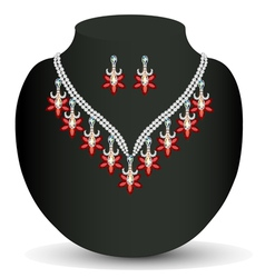 Necklace with her wedding vector
