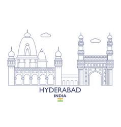 Hyderabad city skyline vector