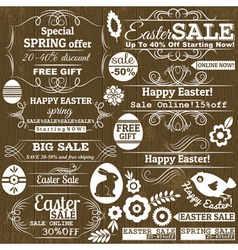 Set of easter sale offer labels and banners vector