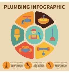 Plumbing icon infographic vector
