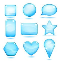 Opaque blue glass shapes vector