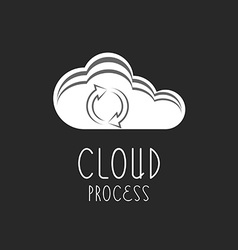 Cloud icon arrows sign the loading process vector