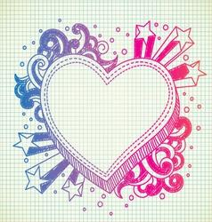 heart doodle vector image