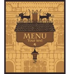 house menu vector image