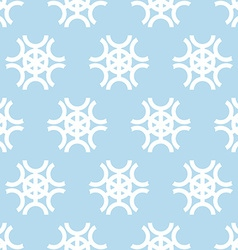Snowflakes on blue background seamless pattern vector image