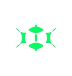 logo - abstract eyes vector image