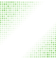 Dotted green background halftone pattern vector