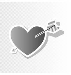 Arrow heart sign new year blackish icon vector