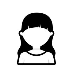 Avatar woman profile online outline vector