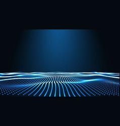 Blue landscape background cyberspace landscape vector