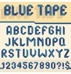 Blue tape alphabet vector