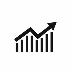 Business graph icon simple style vector