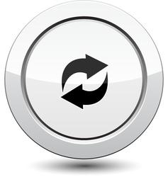 Button with arrows icon vector