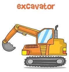 Cartoon of excavator design art vector image vector image