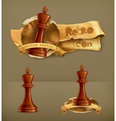Chess King icon vector image