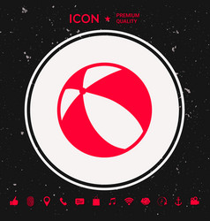 Children toy bouncy ball - icon vector
