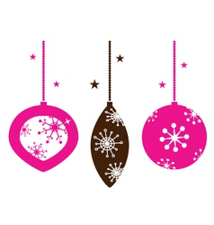 christmas retro ornamental balls collection vector image vector image