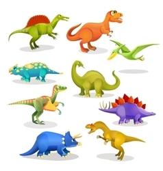 Collection of prehistoric dinosaur habitants vector image vector image