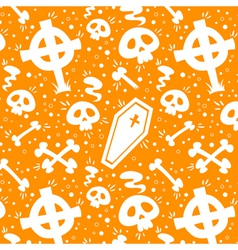 Creepy cartoon Halloween texture vector image