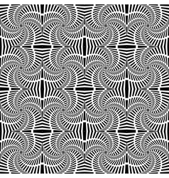 Design seamless uncolored swirl movement pattern vector