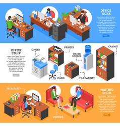 Detailed office stuff banners vector