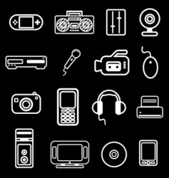 electronic item icon vector image vector image
