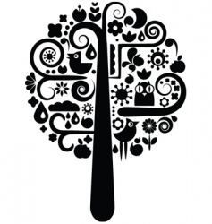 environmental icons tree vector image