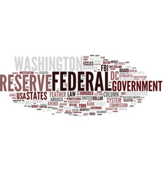 Federal word cloud concept vector