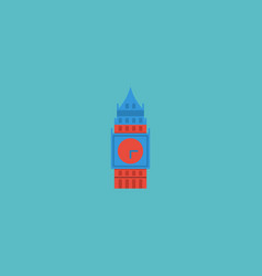 flat icon big ben element of vector image vector image