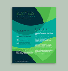 Green and blue brochure flyer design vector