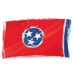 Grunge Tennessee flag vector image