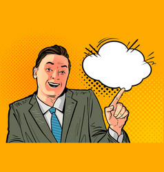 happy businessman or boss business concept vector image vector image